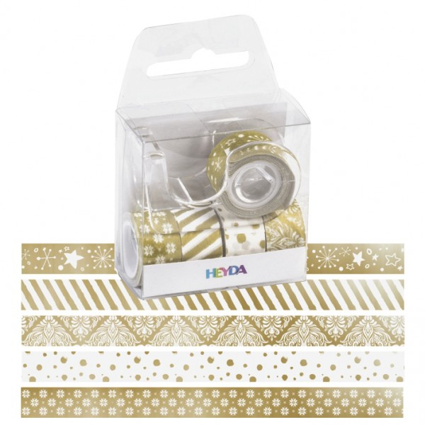 Heyda мини тиксо 12 mm, 5 бр.*3 m, 80-злато