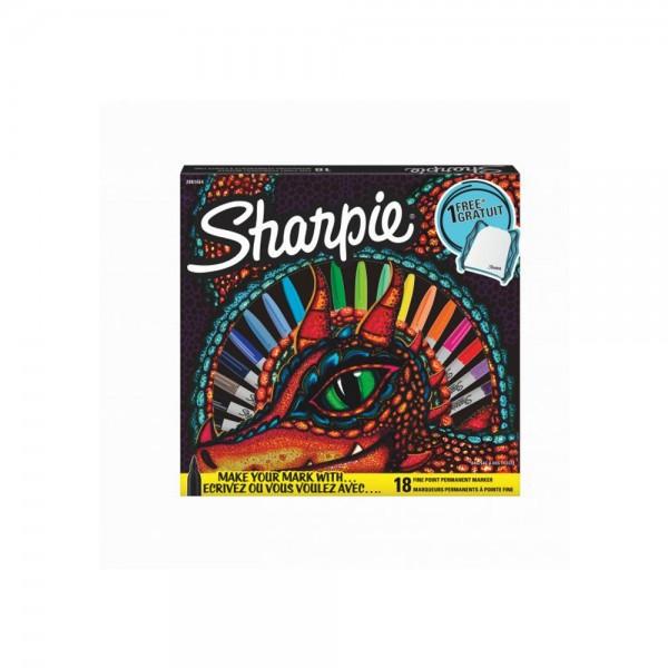 Комплект перм. маркери Sharpie + чанта