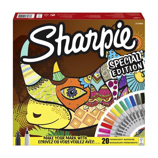 Комплект перманентни маркери Sharpie, 20 броя Носорог