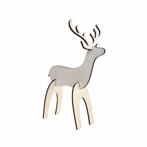Дървена Коледна Играчка - Еленче 13.5 cm