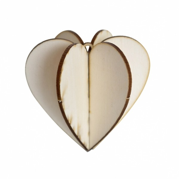 Дървена Коледна Играчка - Сърце
