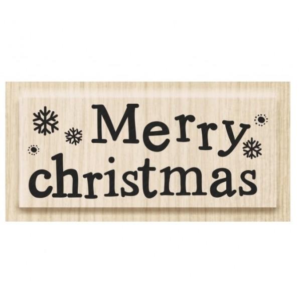 Коледен Текстови Печат с Надпис на Английски Език - Merry Christmas