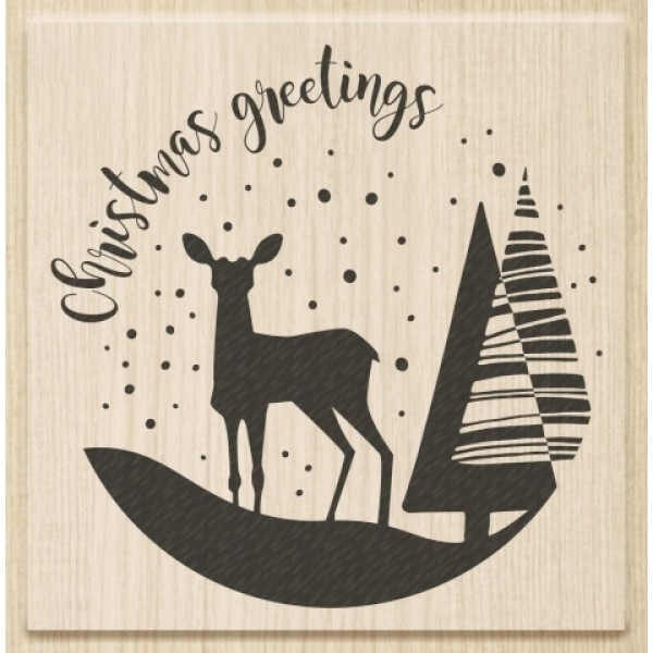 Коледен Текстови Печат с Надпис на Английски Език - Christmas Greetings