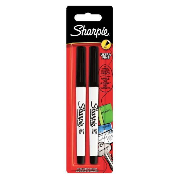 Перманентен маркер Sharpie UF, черен, 2 броя, блистер