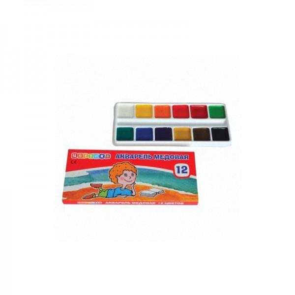 Комплект акварелни бои Цветник 12 цвята