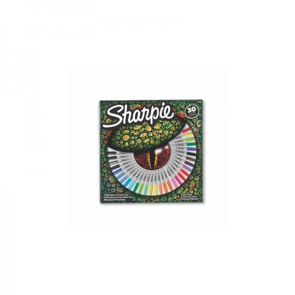 Комплект перманентни маркери Sharpie Crocodile eye, 30 броя