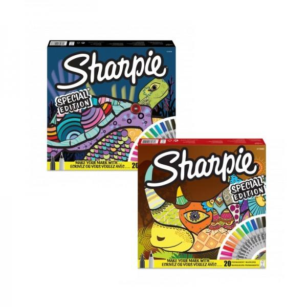 Комплект перманентен маркери Sharpie, 20 броя