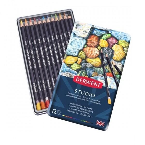 Derwent цветни моливи Studio комплект 12 цв