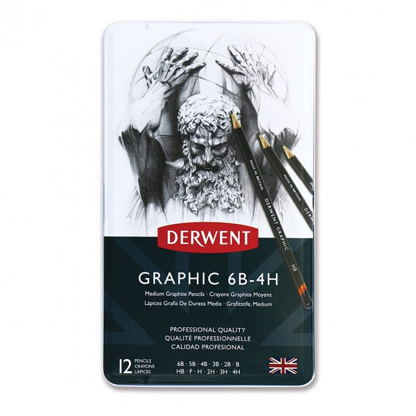 Derwent графитен молив Graphic комплект 12 бр MEDIUM
