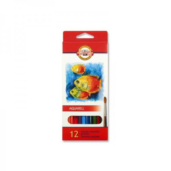 KOH-I-NOOR - Акварелни моливи 12 цв