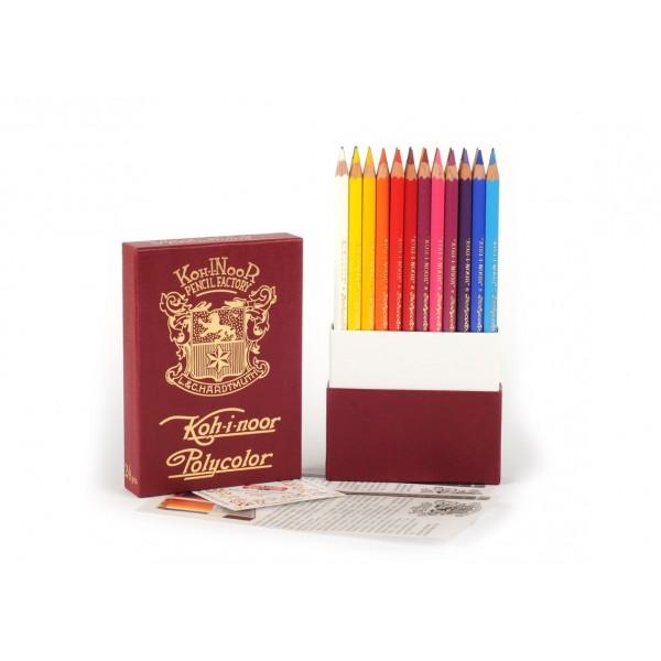 Лимитирана серия цветни моливи KOHINOOR RETRO-POLYCOLOR 24цв