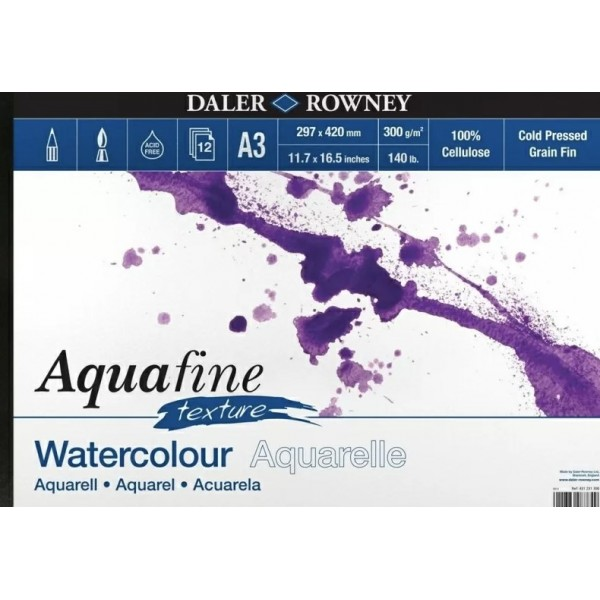 Daler Rowney скицник Aquafine A3 (42*29,7 cm) 300 g, 12 л
