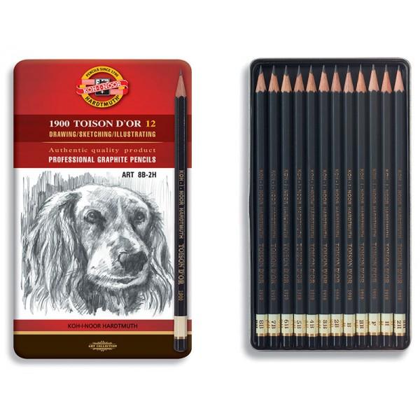 KOH-I-NOOR графитен молив, АРТ 1900 комплект 12бр