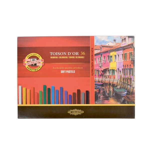 KOH-I-NOOR - сухи пастели комплект 36 цвята