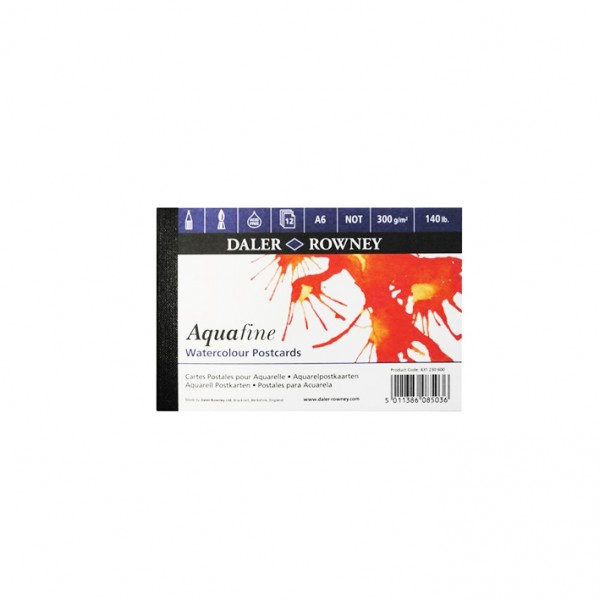 Daler Rowney скицник Aquafine Postcards A6 за картички, 300 g, 12 л