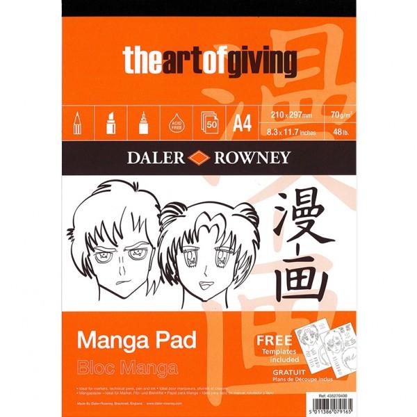 Daler Rowney скицник Manga A4, 50 листа, 70g