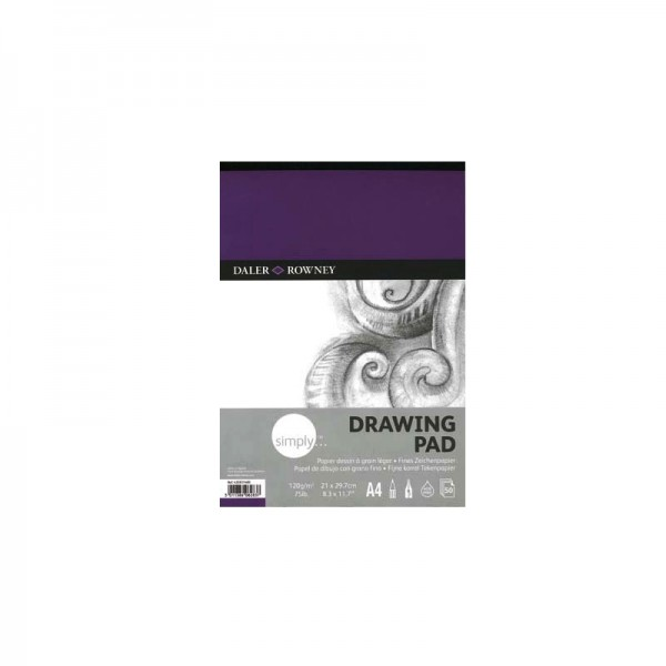 Daler Rowney скицник Simply Drawing pad A4 120g, 50л