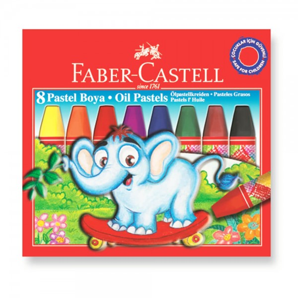 Маслени пастели 8 цв. - Faber Castell