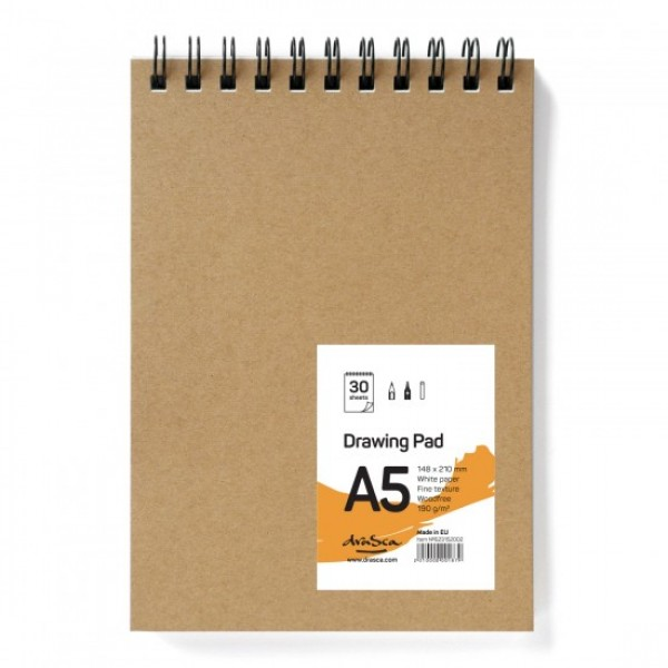 Скицник 'Drawing Pad' спирала A5 (14.8*21 cm) 30 листа бял картон 190g