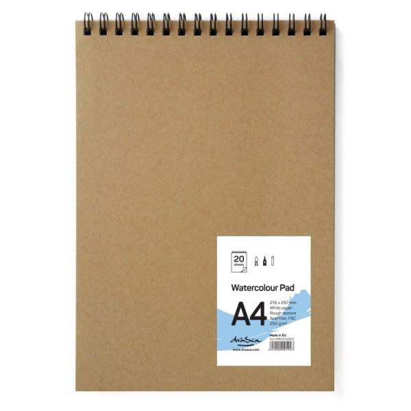 Скицник 'Watercolour Pad' спирала A4 (21*29.7 cm) 20 листа бял картон 250g