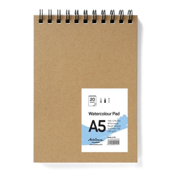 Скицник 'Watercolour Pad' спирала A5 (14.8*21 cm) 20 листа бял картон 250g