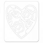 Щанца Sizzix Sizzlits Die - Heart, Lace