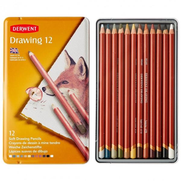 Derwent цветен молив Drawing комплект 12 цвята