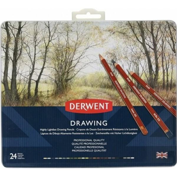 Derwent цветен молив Drawing комплект 24 цвята