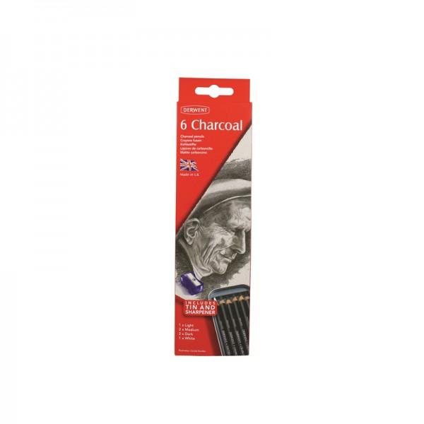 Derwent комплект Charcoal 6 бр в метална кутия
