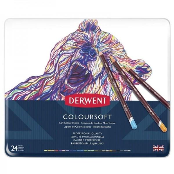 Derwent цветни моливи Coloursoft комплект 24 цвята