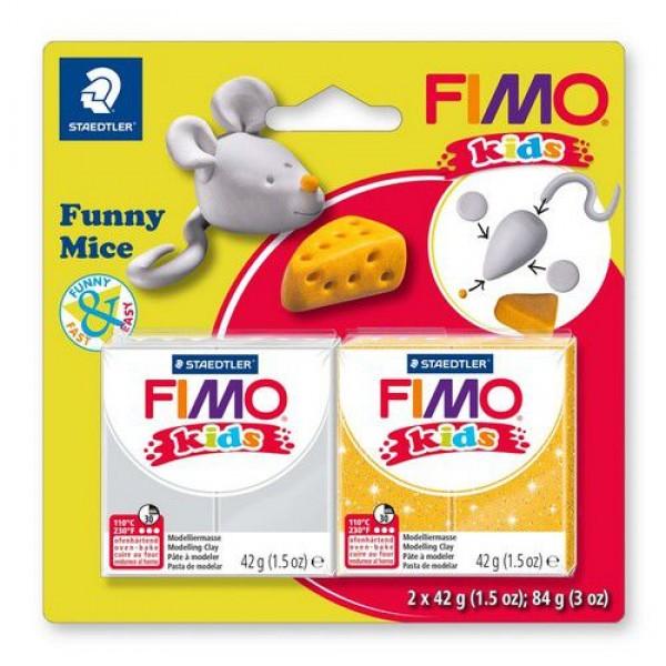 Полимерна глина Fimo kids kit funny mice 8035-11