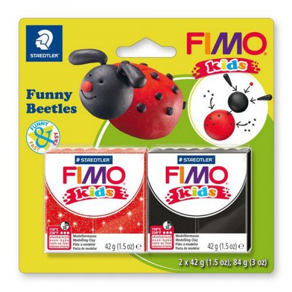 Полимерна глина Fimo kids kit funny beetles 8035-12