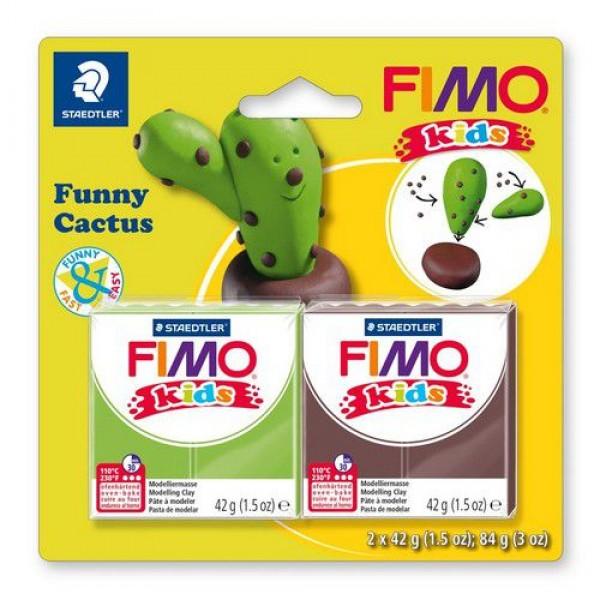Полимерна глина Fimo kids kit funny cactus 8035-13