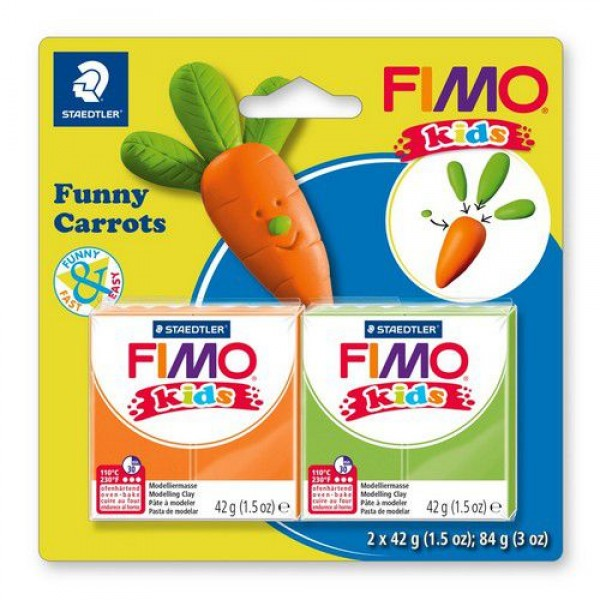 Полимерна глина Fimo kids kit funny carrots 8035-14