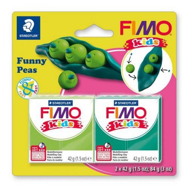 Полимерна глина Fimo kids kit funny peas 8035-15