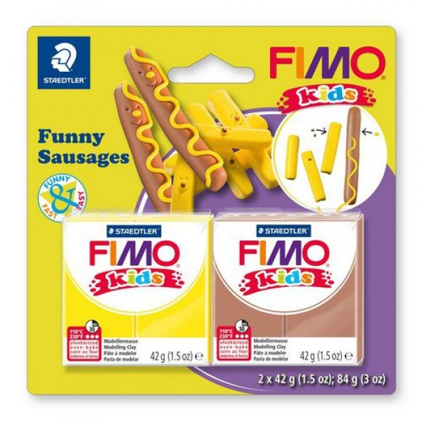 Полимерна глина Fimo kids kit funny sausages 8035-16