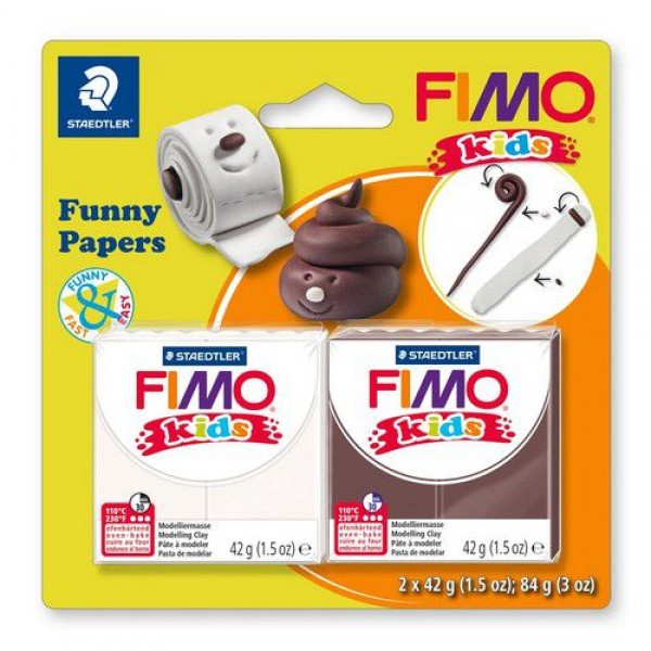 Полимерна глина Fimo kids kit funny paper 8035-17