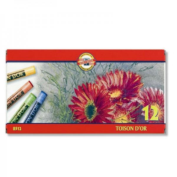 KOH-I-NOOR сухи пастели Toison d'or, 12 цвята