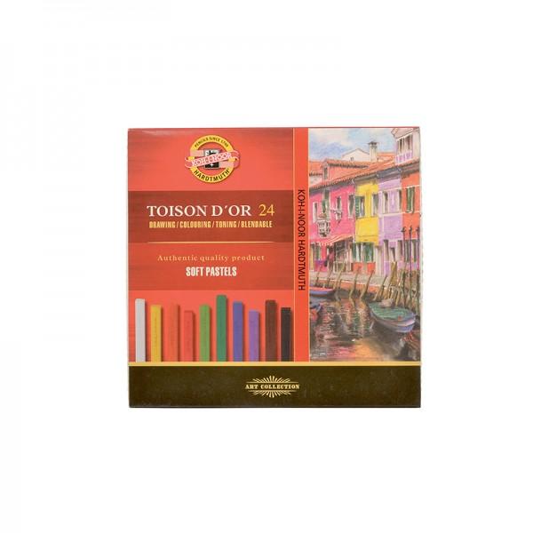 KOH-I-NOOR - сухи пастели комплект 24 цвята