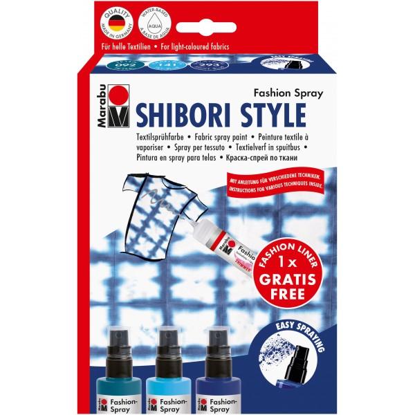 Комплект Shibori style - Спрей за текстил + контур за текстил