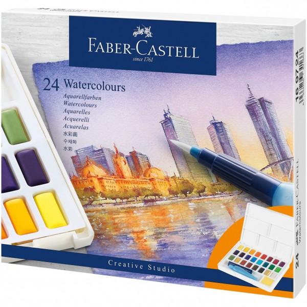 Акварелни бои Creative Studio Faber-Castell 24 цвята