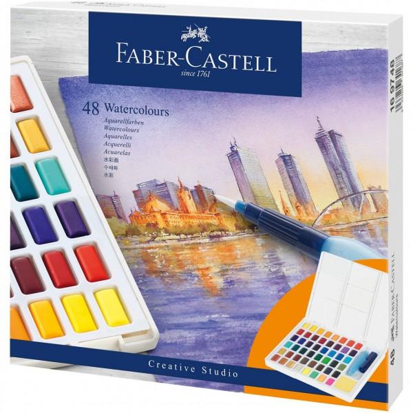 Акварелни бои Creative Studio Faber-Castell 48 цвята