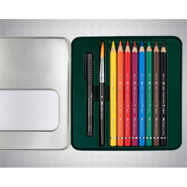 Акварелни моливи 8 цв Albrecht Durer Magnus + Artist Pen тънкописец - Faber Castell