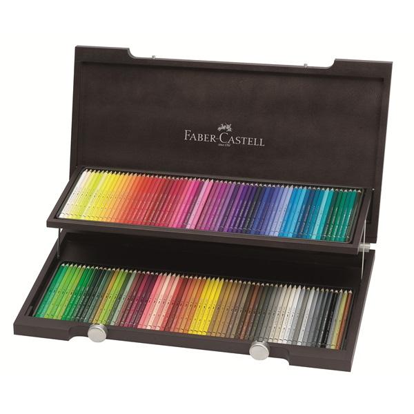 Aкварелни моливи Albrecht Durer в дървена кутия (120 цвята) - Faber Castell