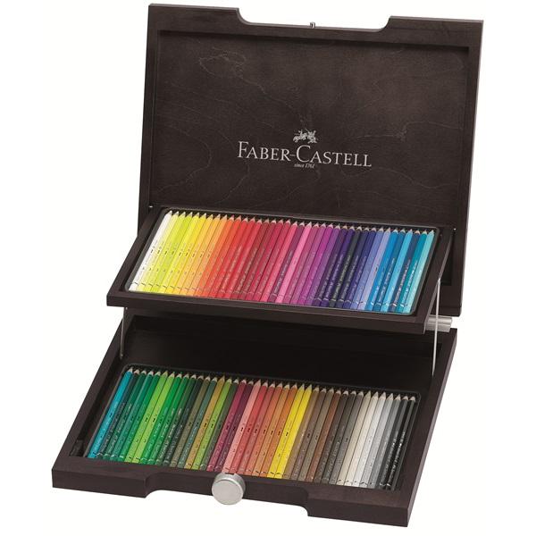 Професионални акварелни цветни моливи Albrecht Durer 72 цвята дървена кутия венге - Faber Castell