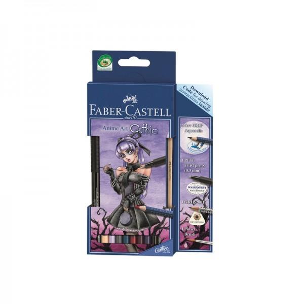 Акварелни моливи комплект Art Grip - Anime art Gothic - Faber Castell