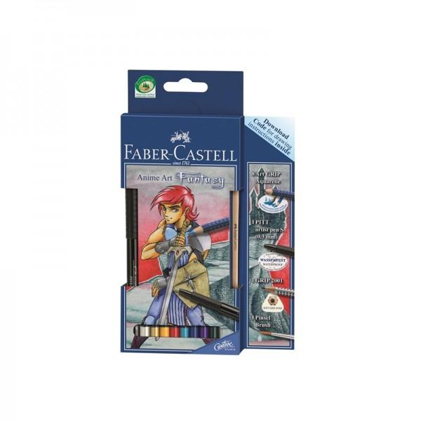 Акварелни моливи комплект Art Grip - Anime art Fantasy - Faber Castell