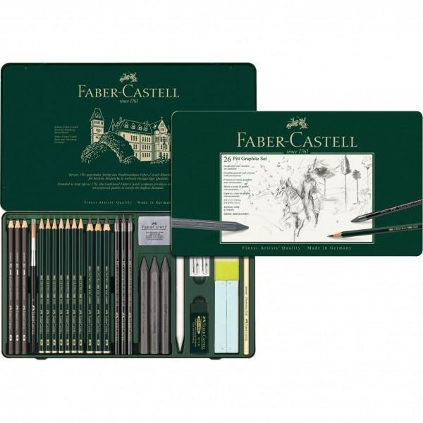 Графичен комплект Art & Graphic PITT 26 части - Faber Castell