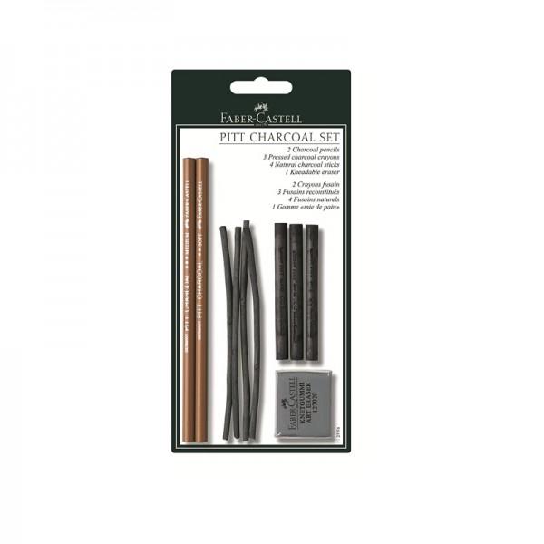 Комплект въглени с хлебна гума - Faber Castell