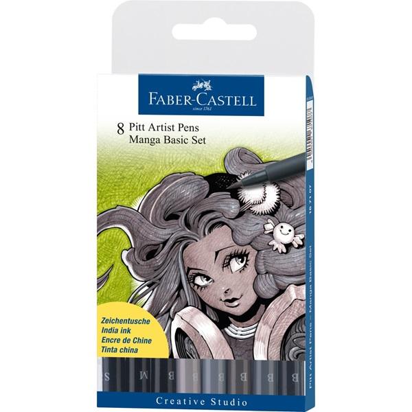 Faber-Castell комплект Manga Basic set - 8 PITT artist pens
